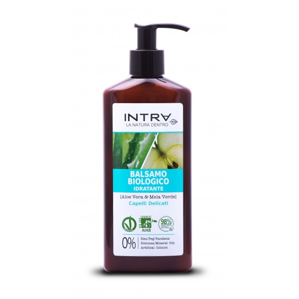 Balsam bio aloe vera și măr verde – hidratant 250 ml INTRA