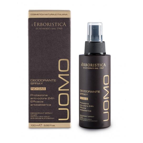 Spray deodorant pentru barbati, protectie antibacteriana si antimiros 24 ore, l'Erboristica, 100 ml