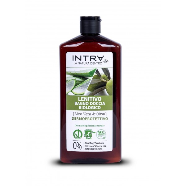 Gel de duș bio aloe vera și măsline 400 ml INTRA